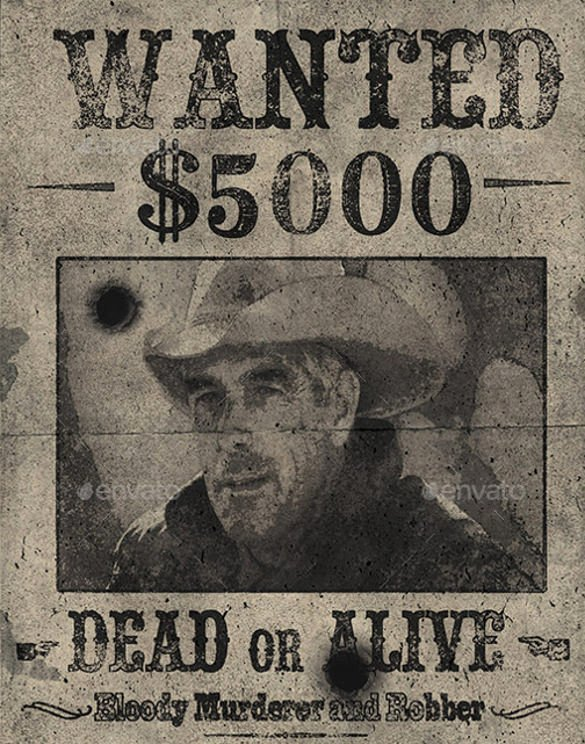 Wanted Poster Template – 53 Free Printable Word Psd