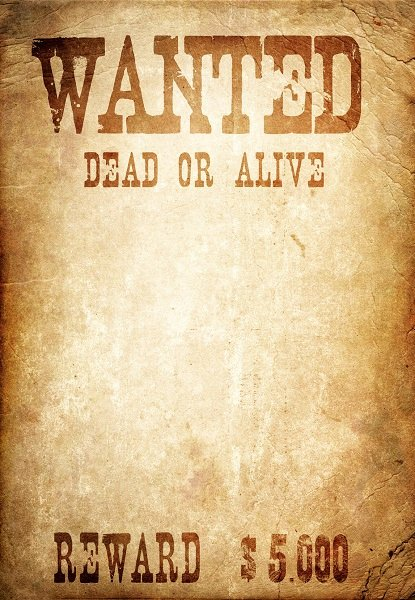 Wanted Poster Template Driverlayer Search Engine