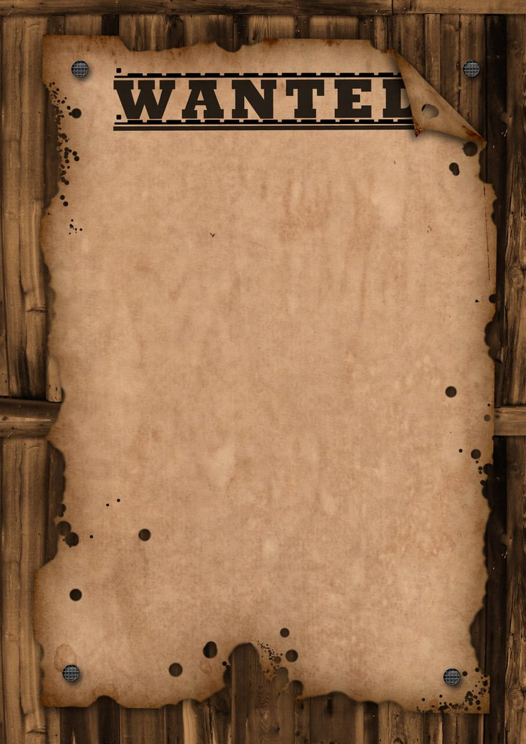 Wanted Template by Maxemilliam On Deviantart