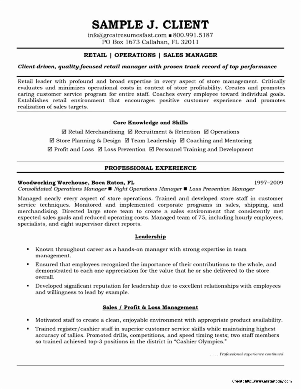 Warehouse Manager Resume Template Free Resume Resume