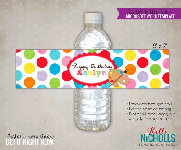 Water Bottle Label Template – 29 Free Psd Eps Ai