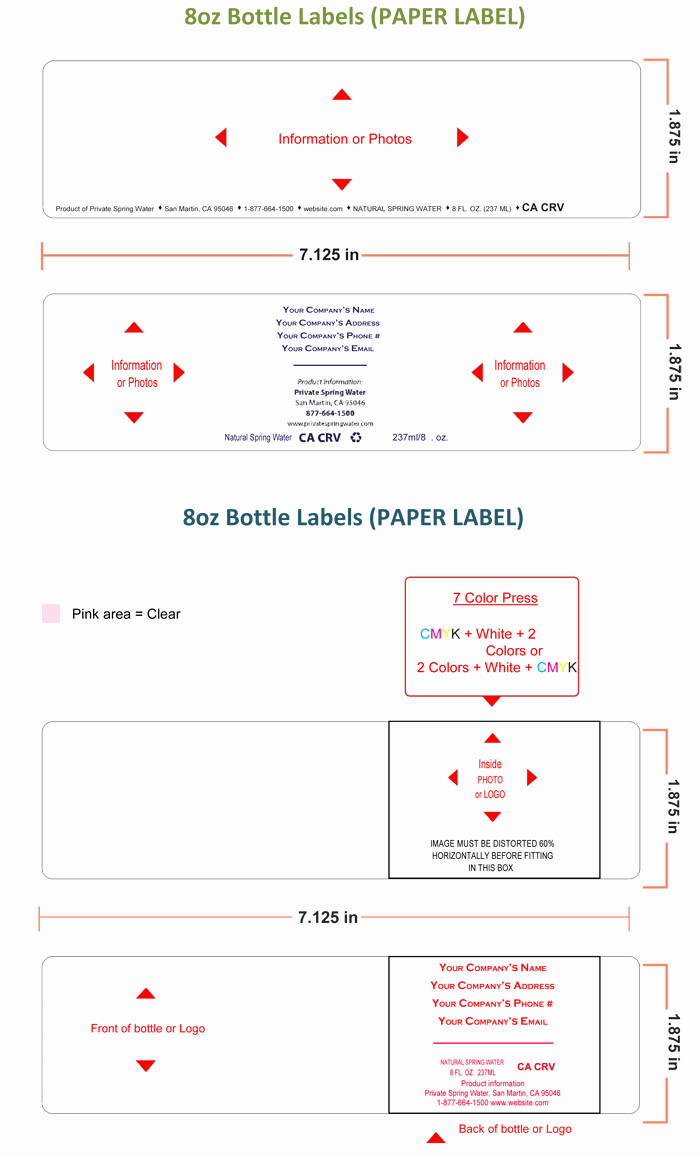Water Bottle Label Template Make Personalized Bottle Labels