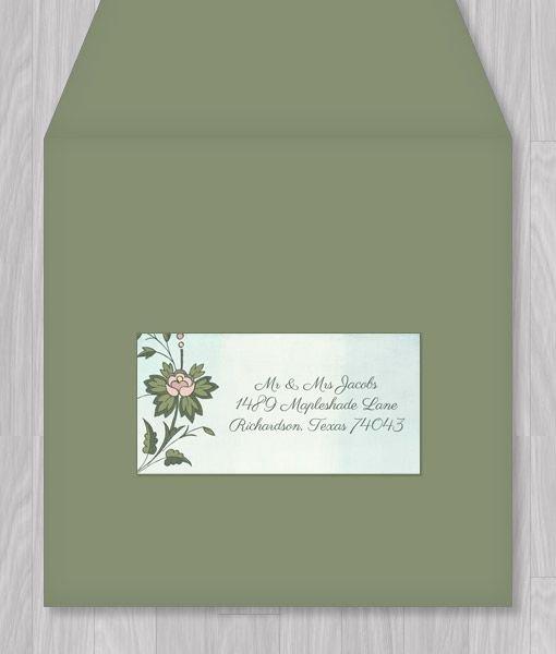 Watercolor Flowers Address Label Template