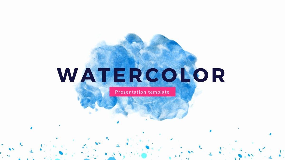 Watercolor Google Slides theme Free Google Presentation