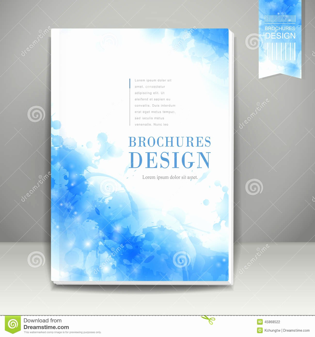 Watercolor Style Background Design for Book Cover Stock
