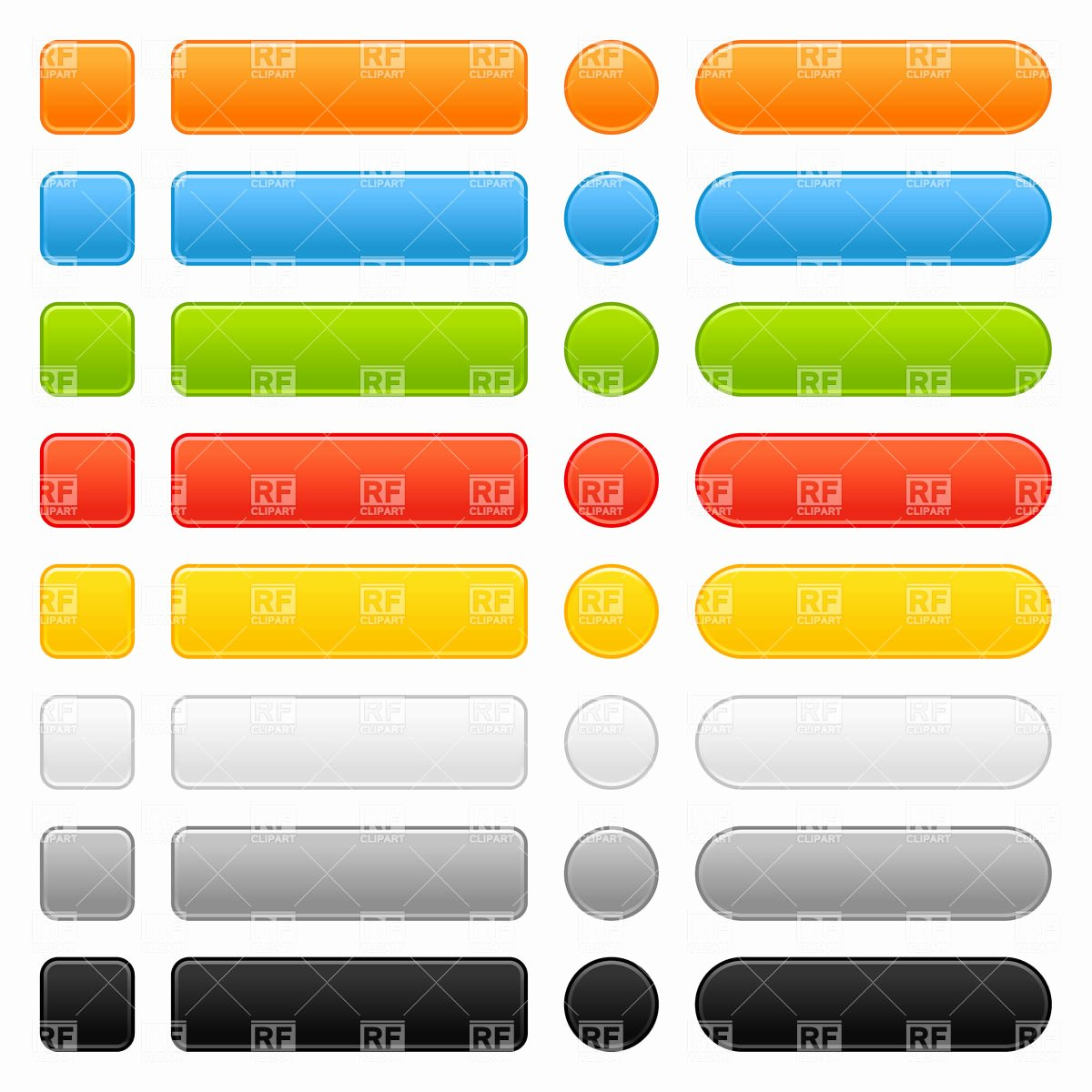 Web button Templates Vector Image – Vector Artwork Of