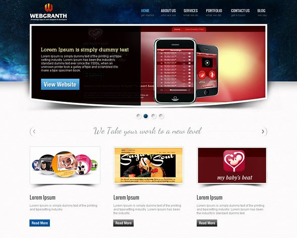 Web Design & Development Psd Template