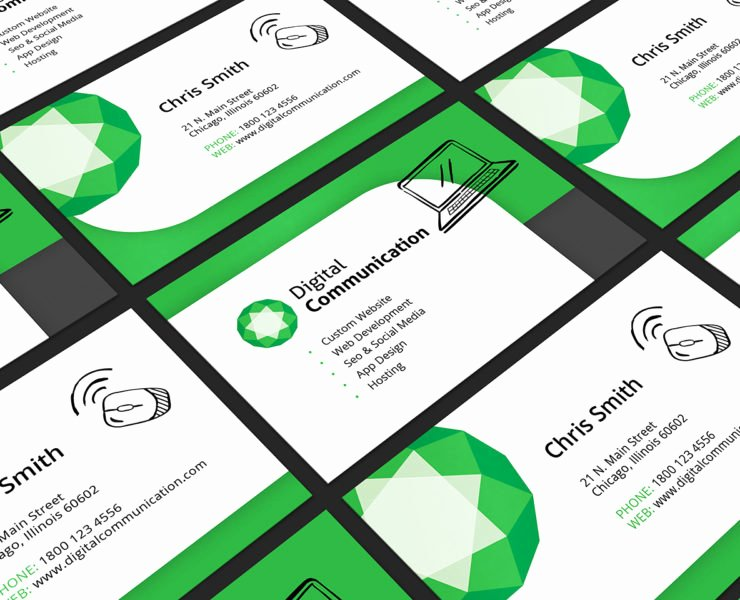 Web Design Business Card Template for Shop & Illustrator