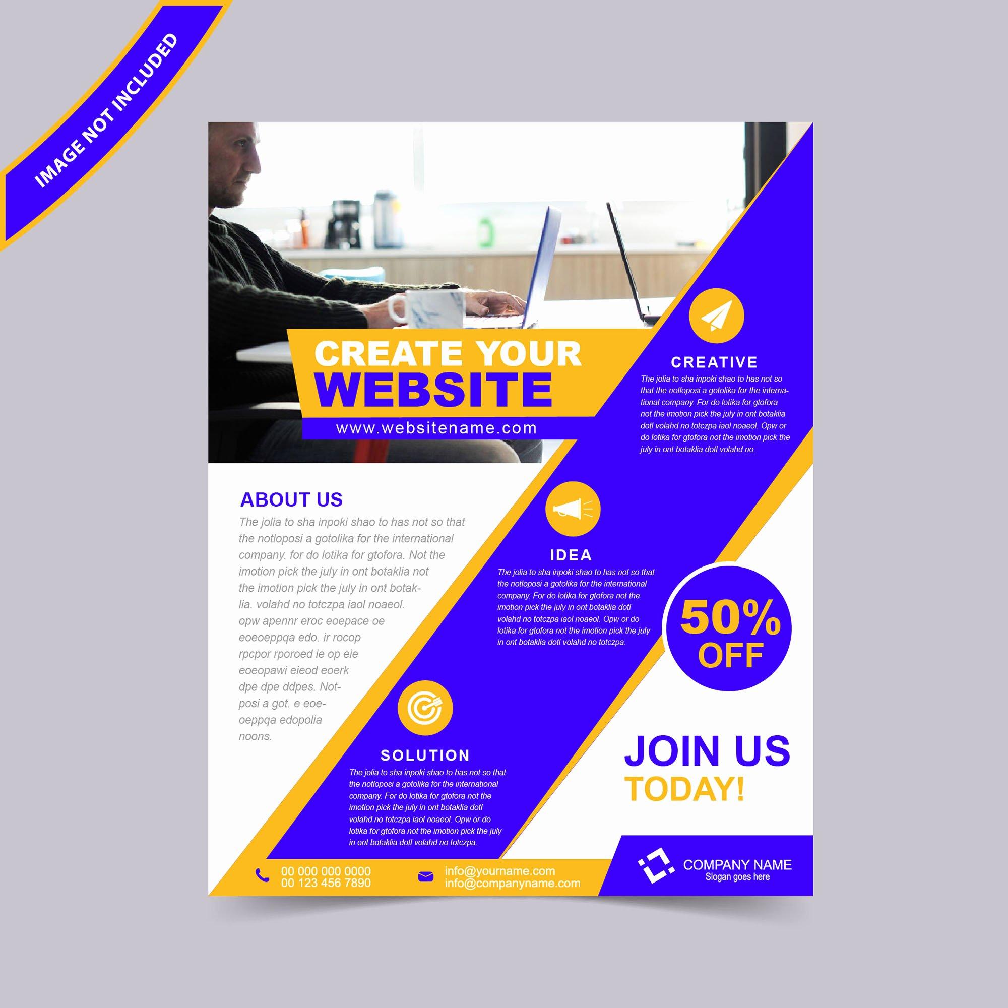 Web Design Flyer Template Free Yourweek 7d9f9feca25e