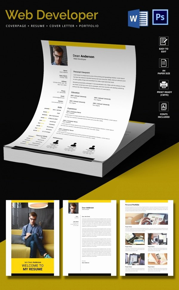 Web Developer Resume Template – 11 Free Word Excel Ps