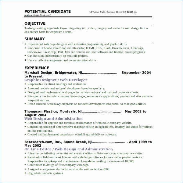 Web Developer Summary Resume – Igniteresumes