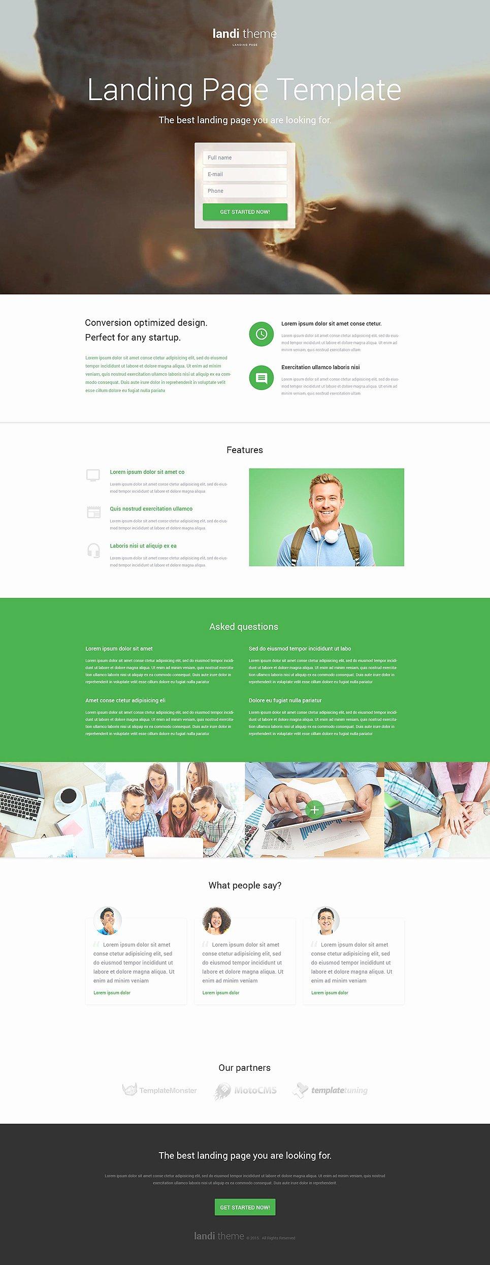 Web Development Responsive Landing Page Template