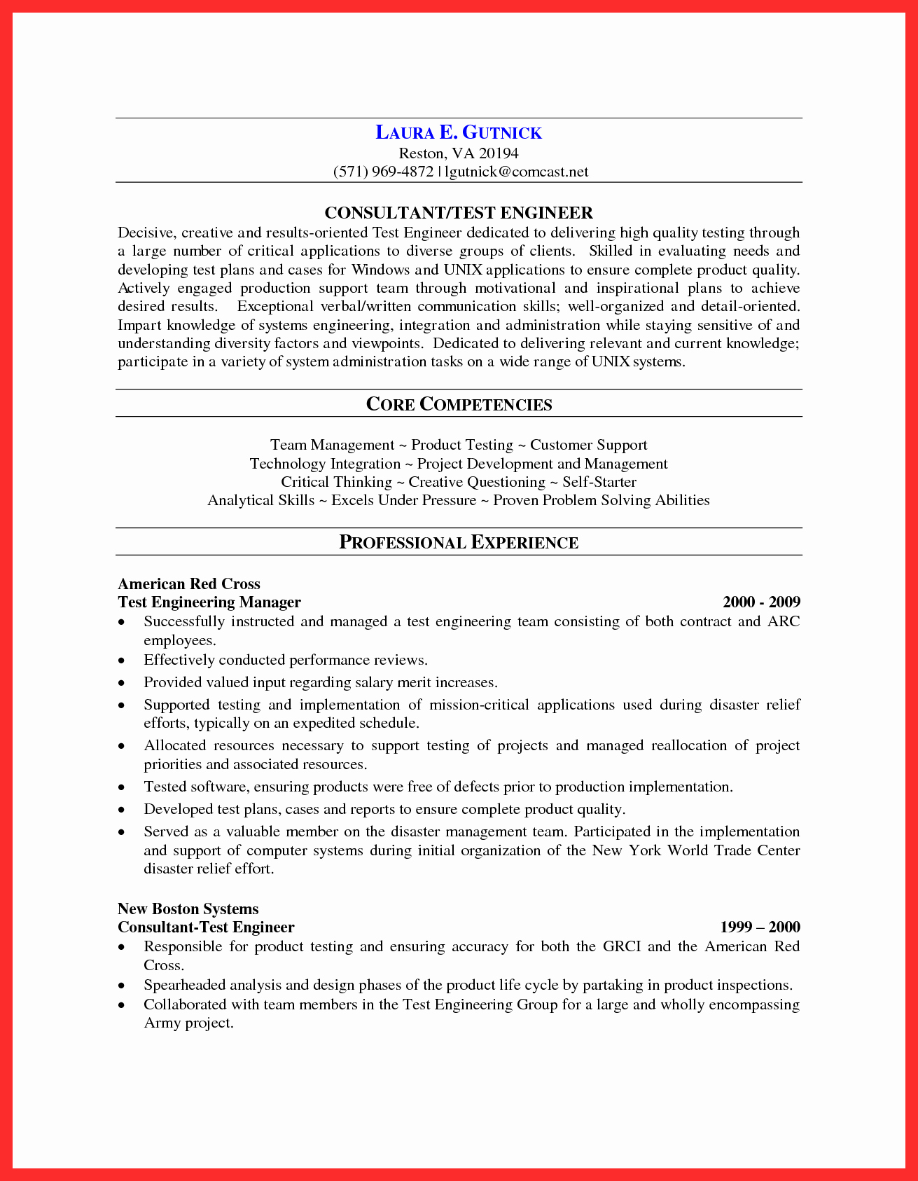 Web Services Resume