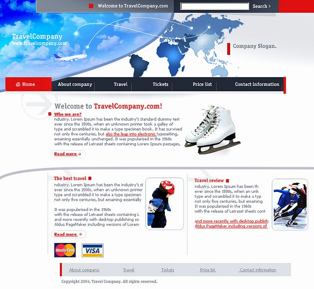 Web Templates 786 Free Flash Website Template Travel Pany