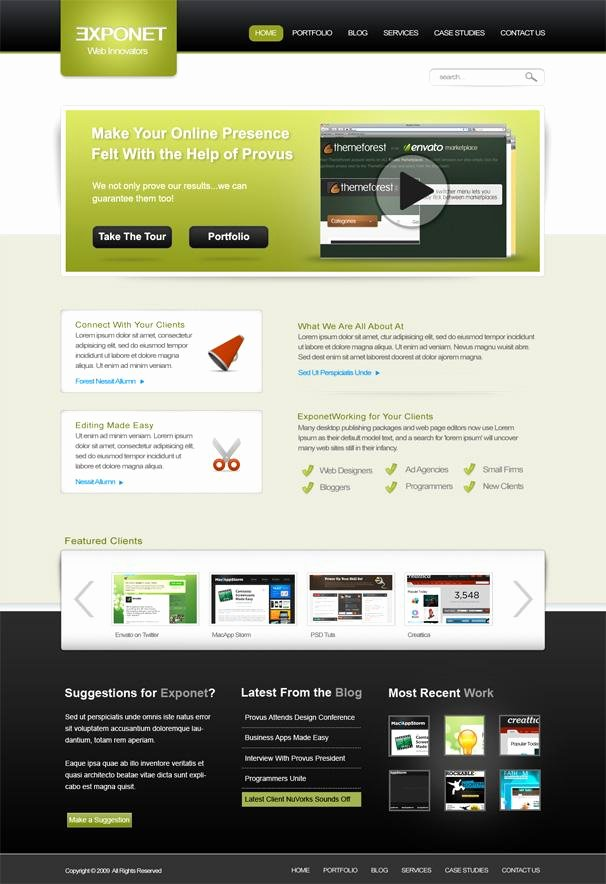 Web Templates Free Download Psd