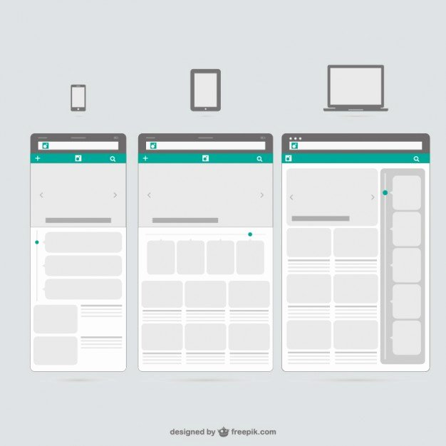 Web Templates Mobile Devices Vector