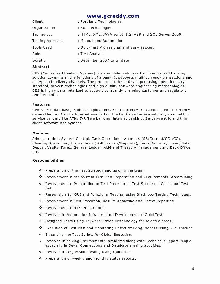 Web Tester Resume