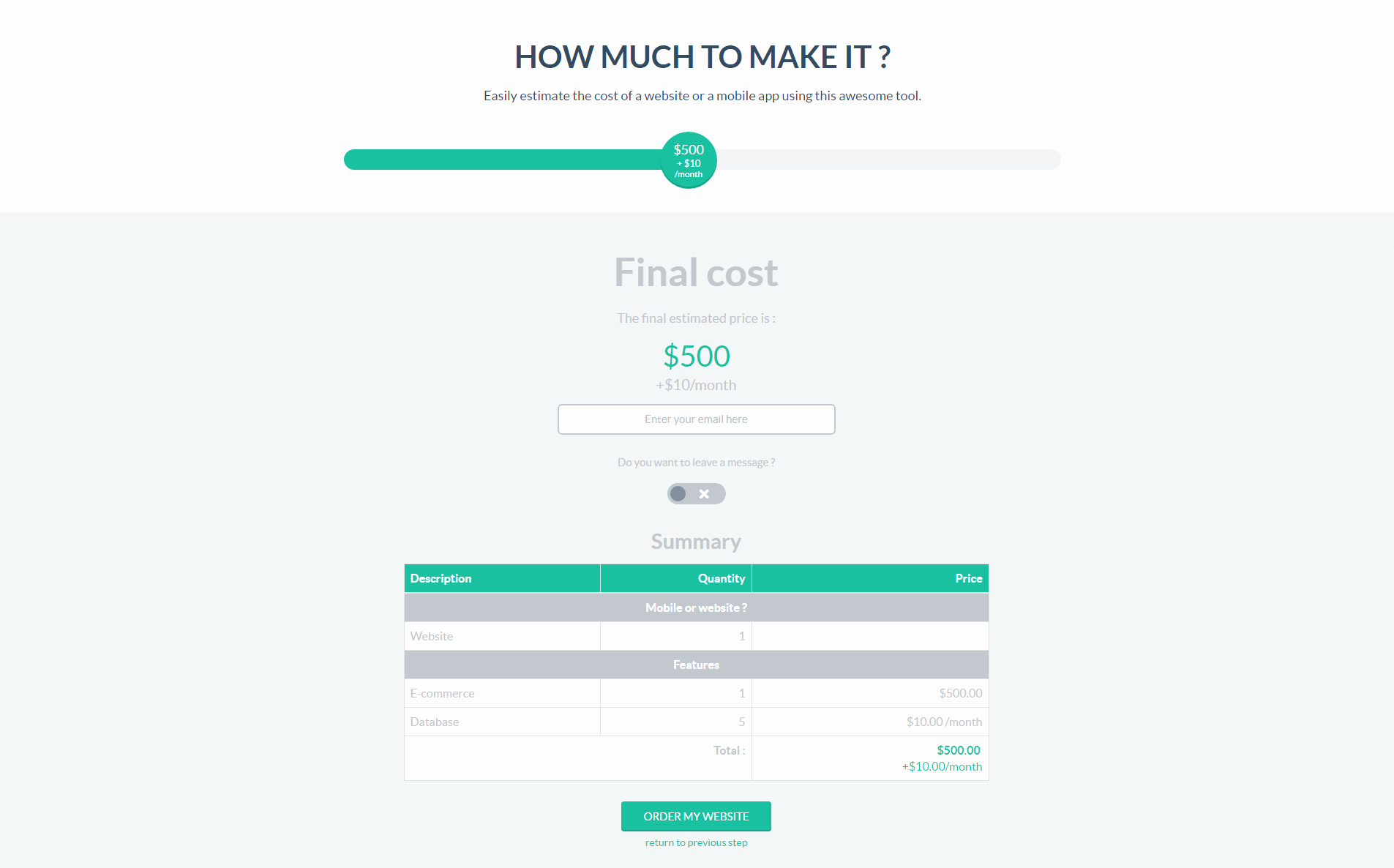 Website Cost Estimate Template Excel 07 Project Cost