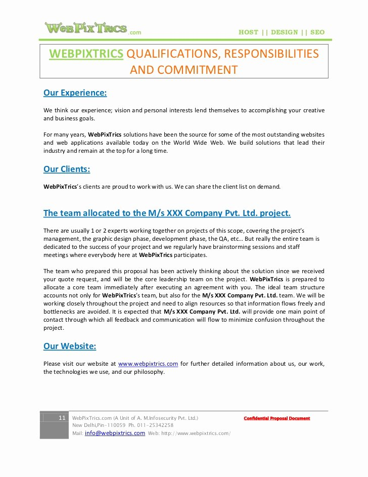 Website Project Proposal Template