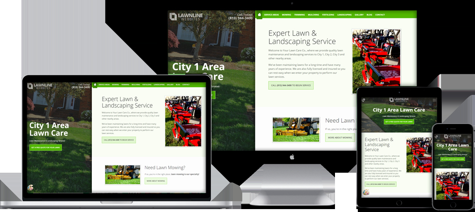 Website Templates for Lawn Care & Landscaping Panies