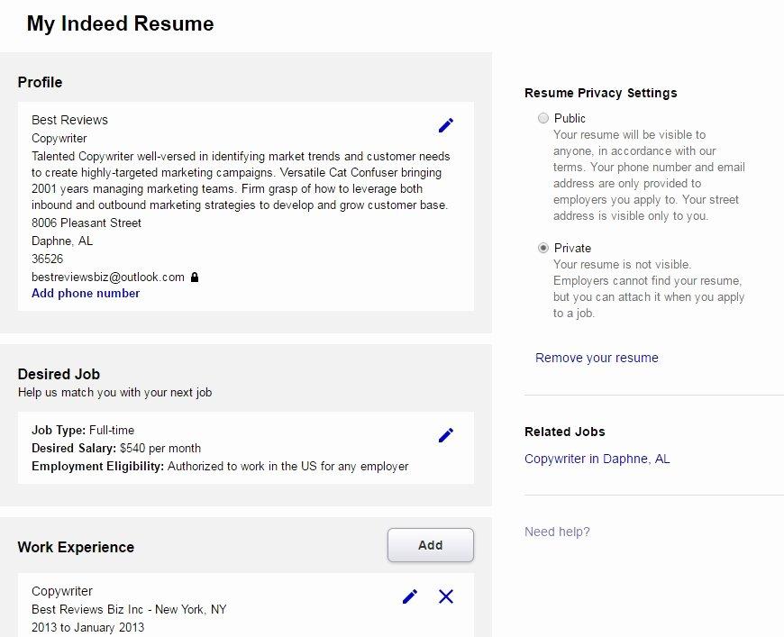 Websites to Post Resumes Best Resume Gallery