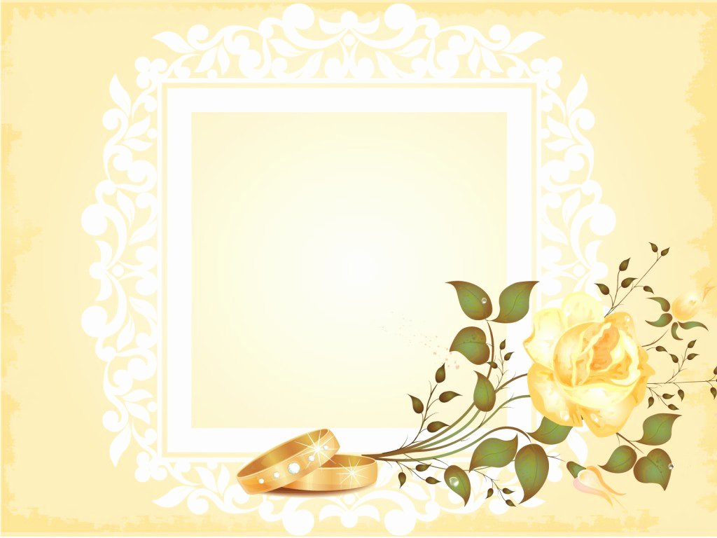 Wedding Album Powerpoint Templates Border & Frames