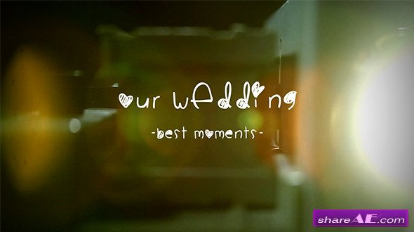 Wedding Album Slide Projector after Effects Project