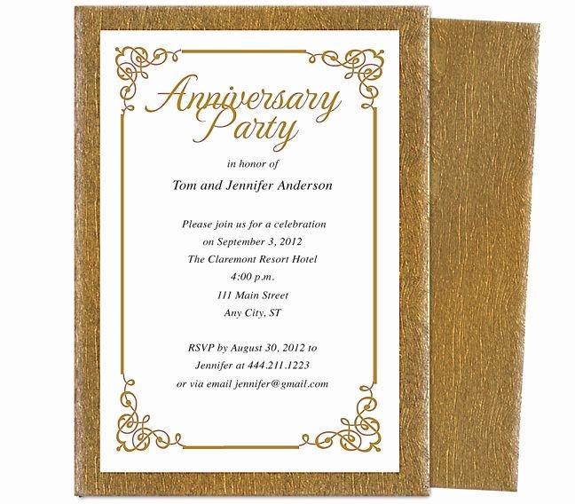 Wedding Anniversary Party Templates Laurel Wedding