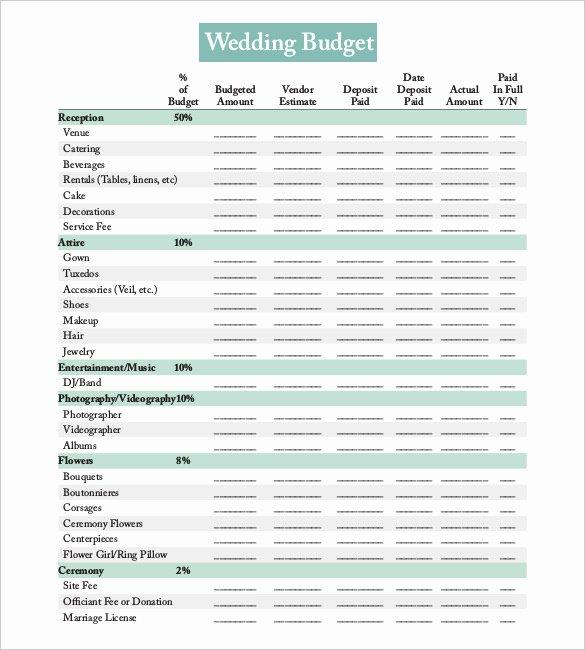 Wedding Bud Template – 13 Free Word Excel Pdf