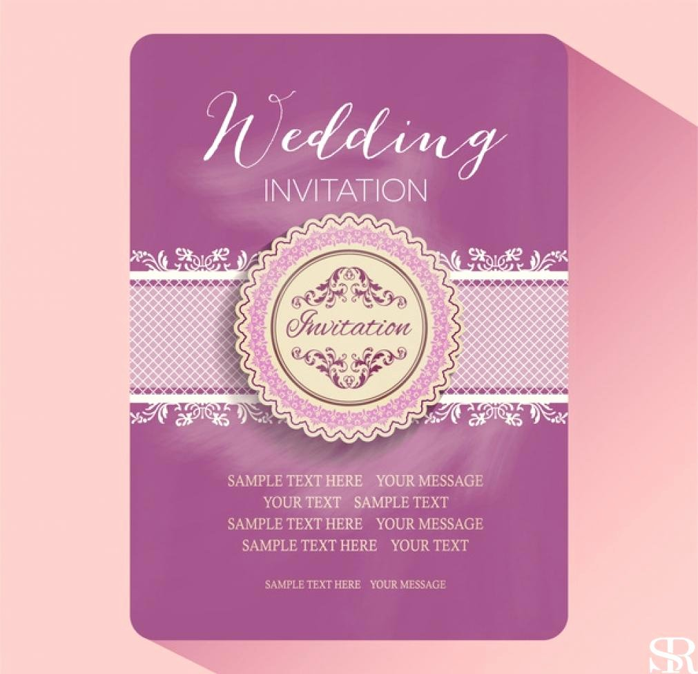 Wedding Card Design Template Free Download Product Receipt