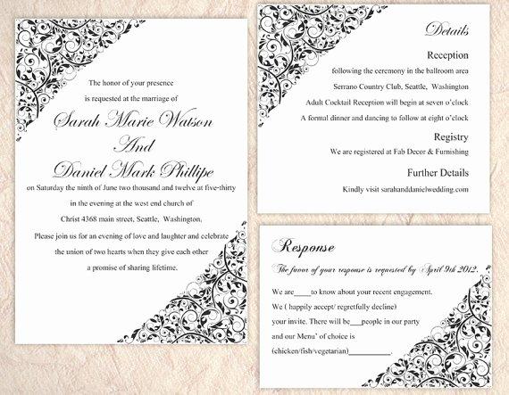 Wedding Card Template Word Templates Data