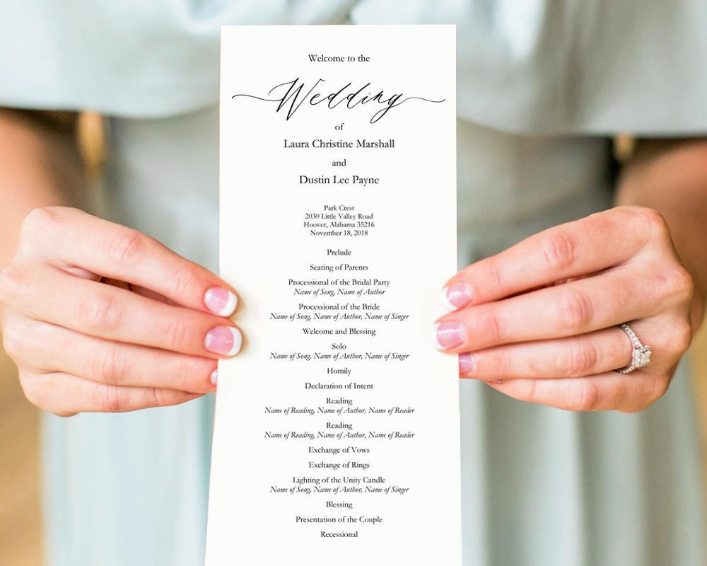 Wedding Ceremony Programs · Wedding Templates and Printables