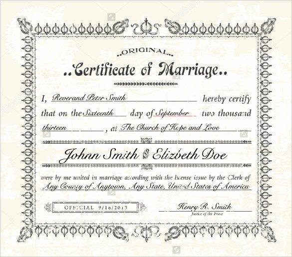 Wedding Certificate Template 22 Free Psd Ai Vector