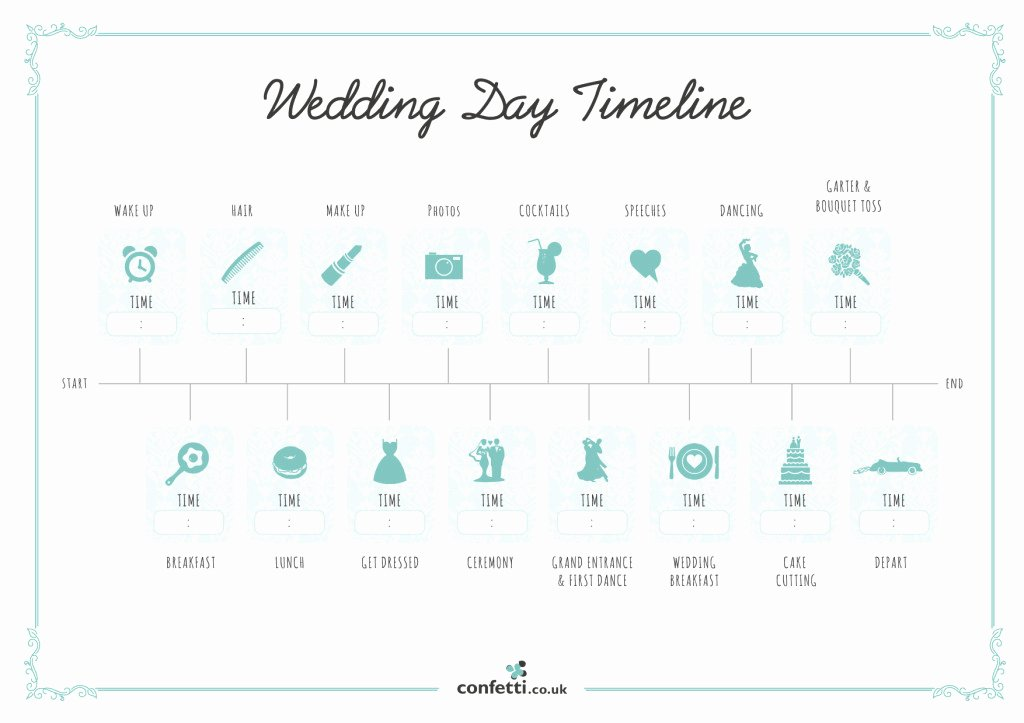 Wedding Day Timeline Free Printable Guide Confetti