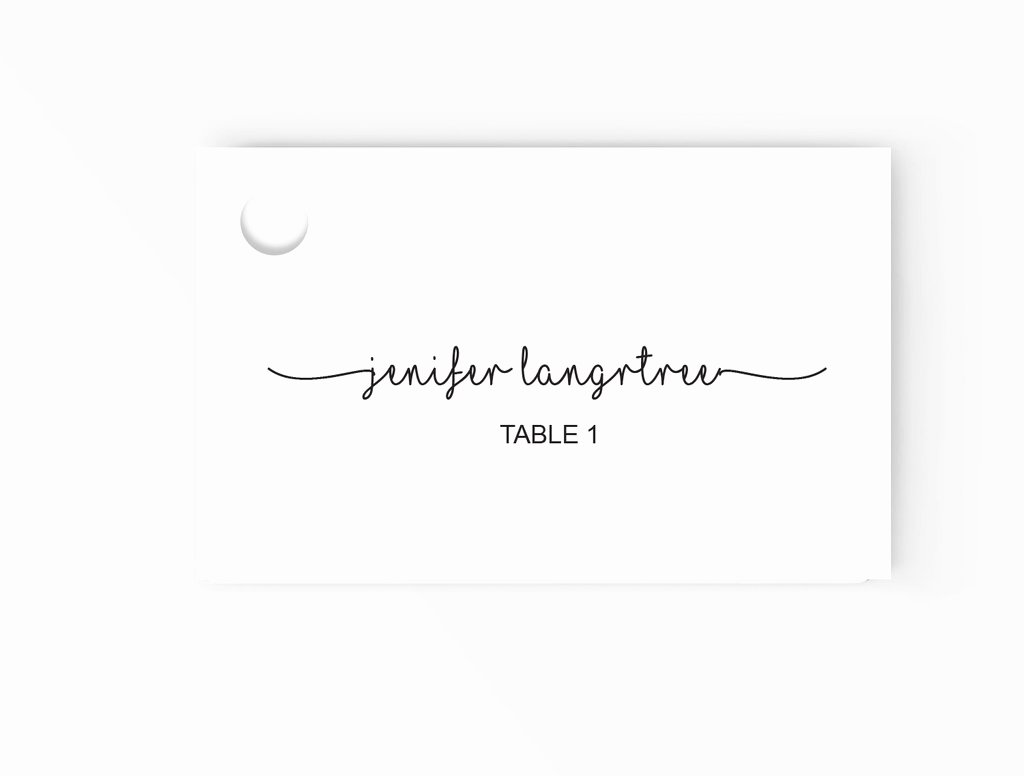 Wedding Escort Place Cards Editable Ms Word Template Diy