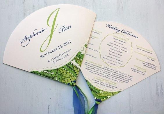 Wedding Fan Invitations Yourweek 1f5354eca25e