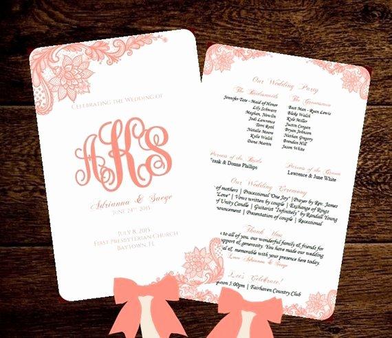 Wedding Fan Program Printable Template by Pixelromance4ever