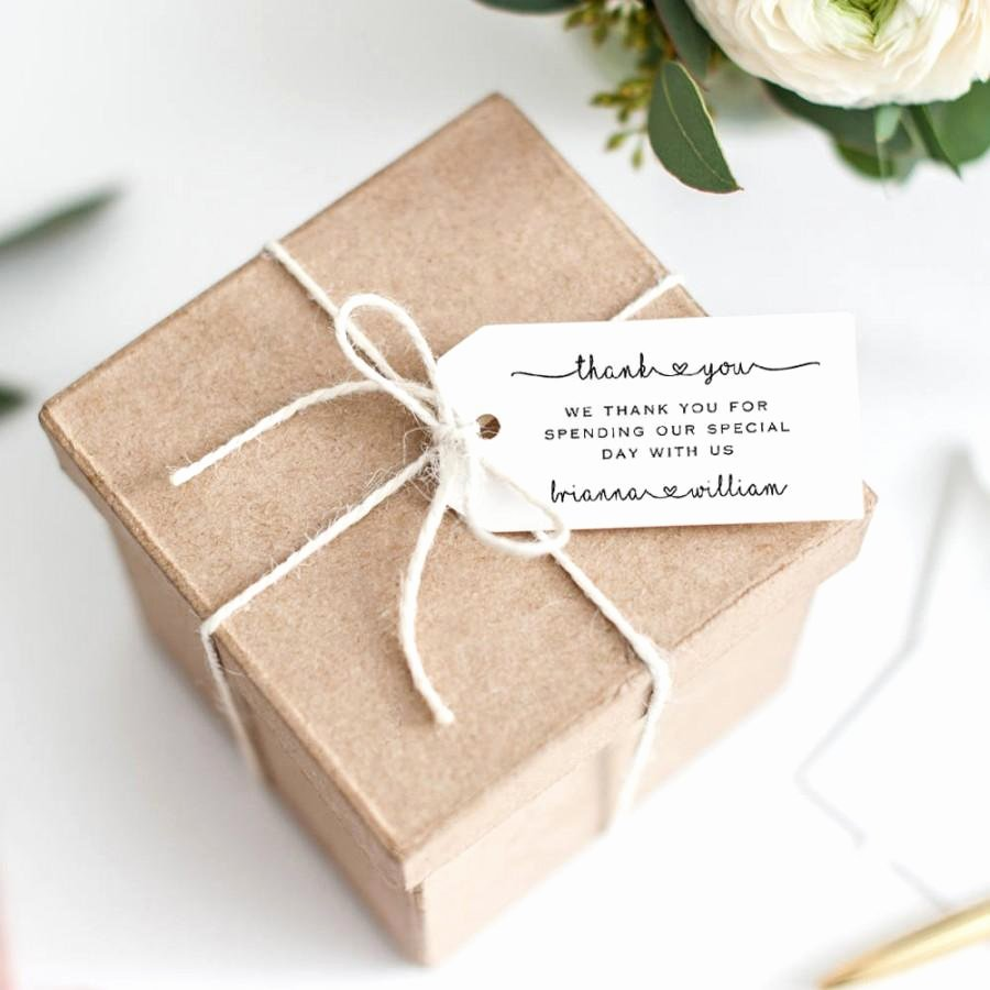 Wedding Favor Tag Printable Template Editable Thank You
