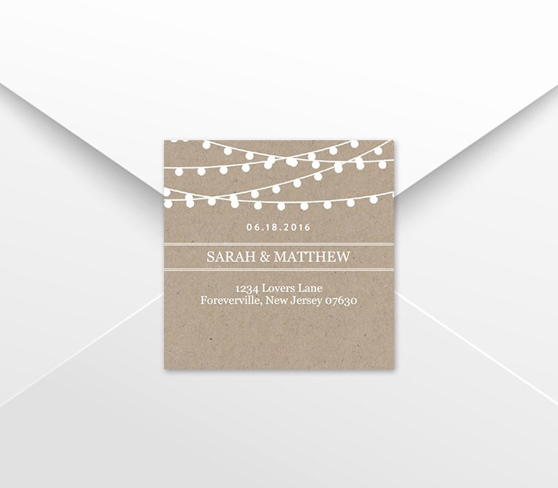 Wedding Favor Tag Template Return Address Labels Kraft