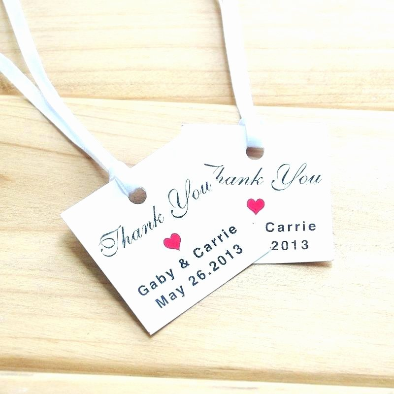 Wedding Favor Tags Printable Template Thank You Word Tag