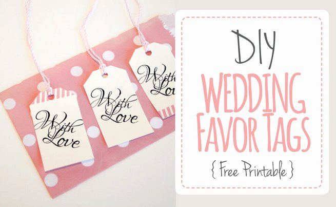"Wedding Favor Tags ""with Love"" Luggage Tag Printable"