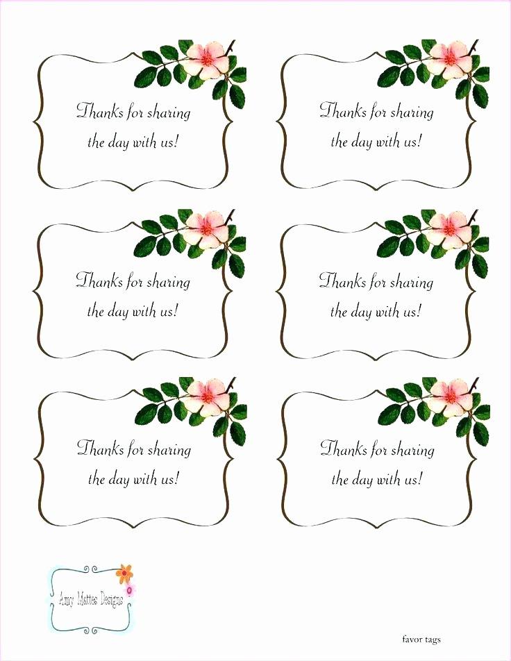 Wedding Favor Tags Template Free Tag Printable Vector