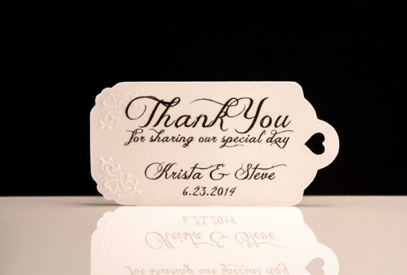 Wedding Favors Stunning Wedding Favor Tag Personalized