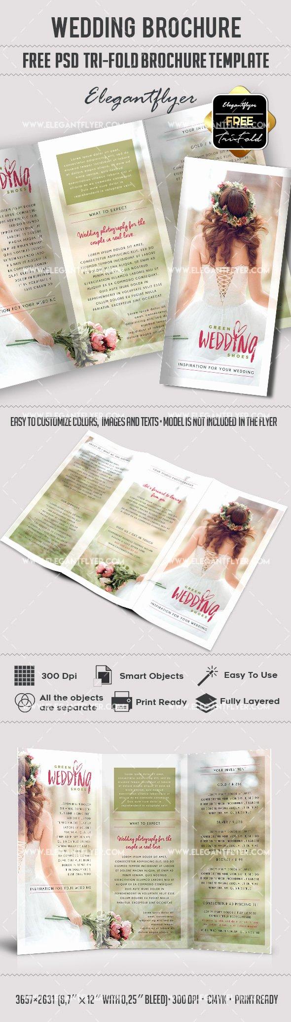 Wedding – Free Tri Fold Psd Brochure Template – by