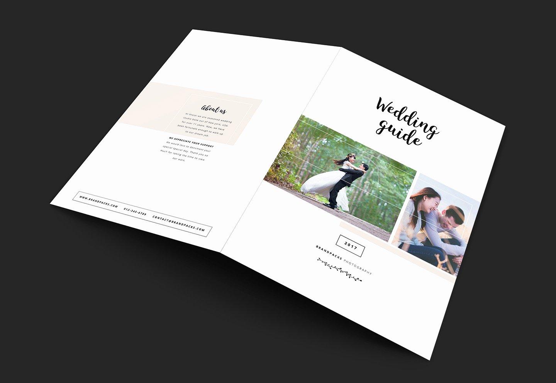 Wedding Grapher Brochure Template for Shop