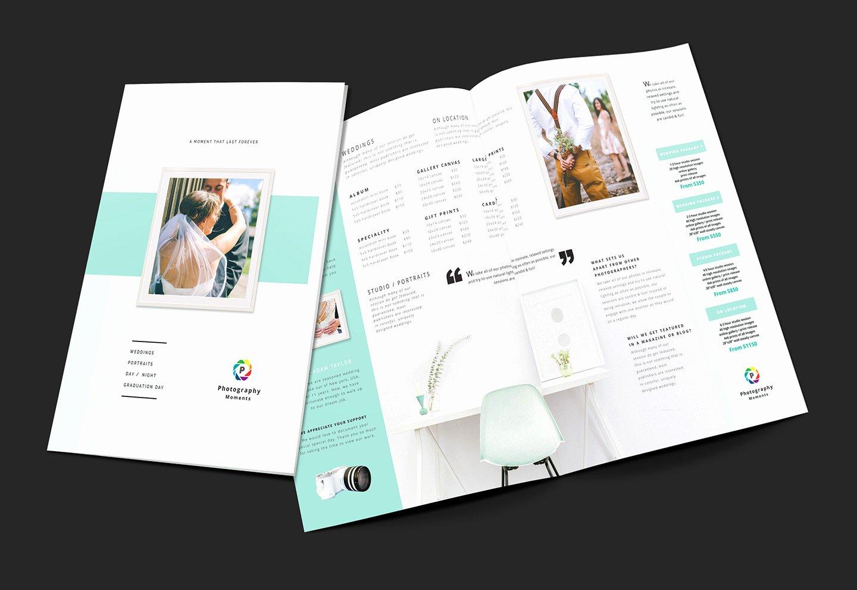 Wedding Grapher Brochure Template V2 Brandpacks