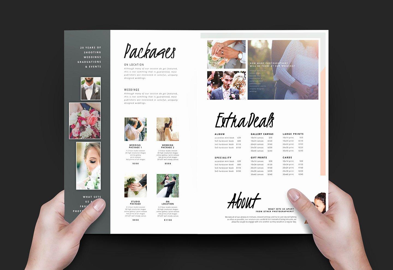 Wedding Grapher Brochure Template V3 Brandpacks
