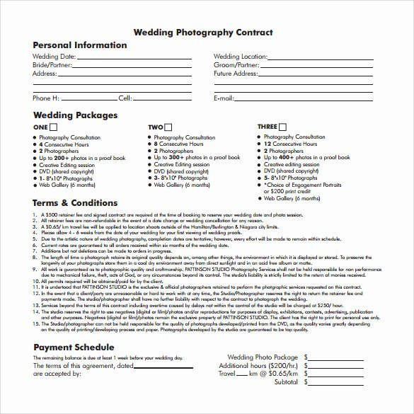 Wedding Graphy Contract Pdf