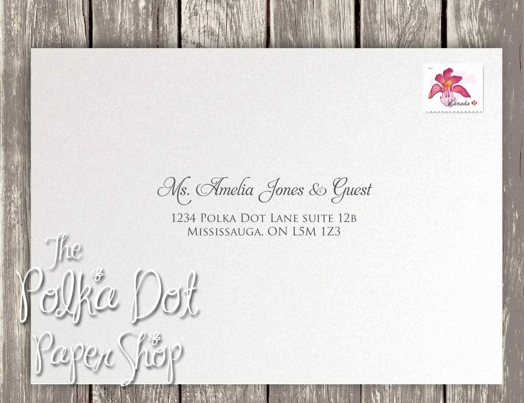 Wedding Invitation Address Labels