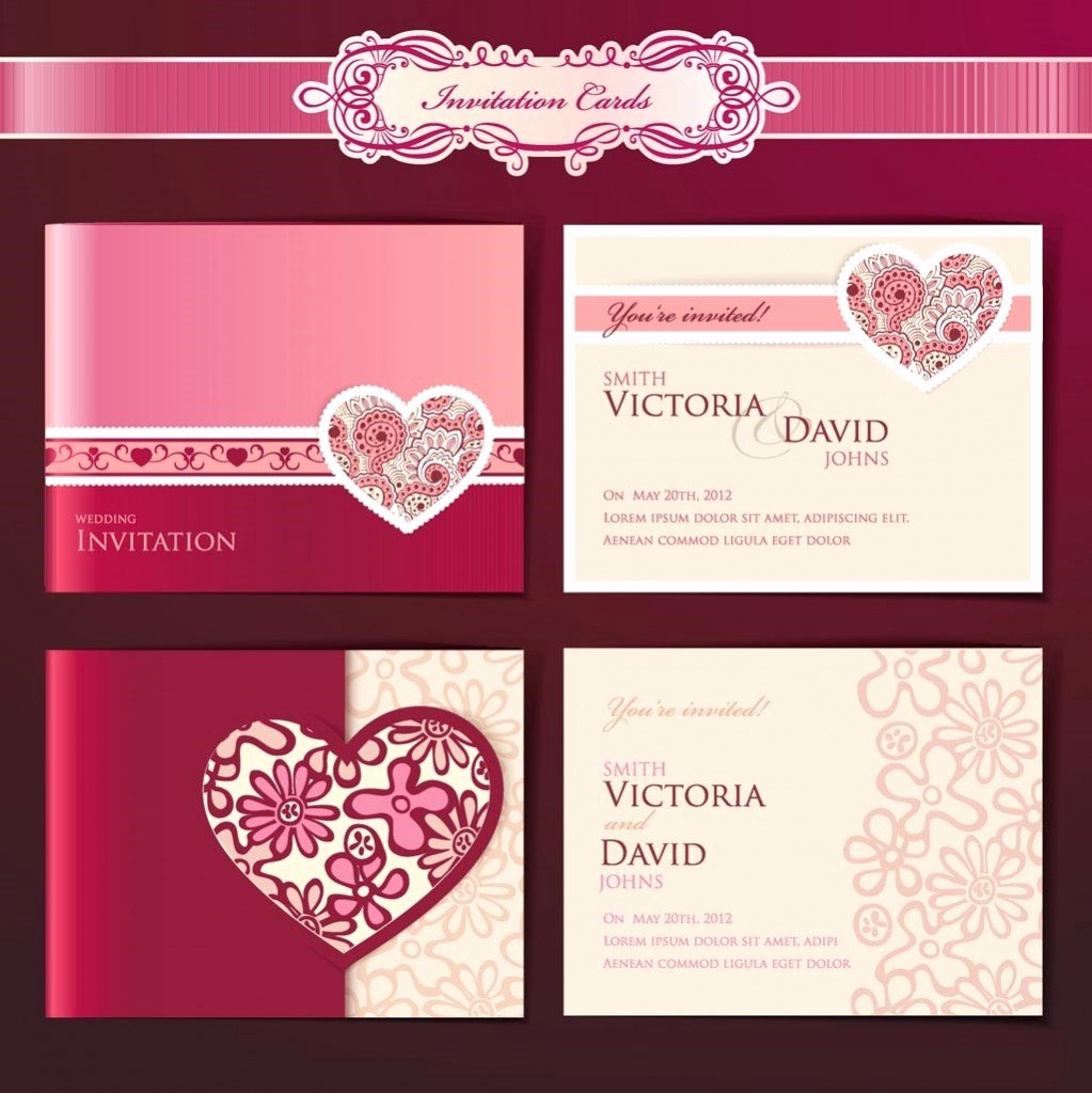 Wedding Invitation Design Templates Wedding and Bridal